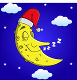 Sleeping Cartoon Moon Stock Photo