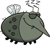Sleeping Cartoon Mosquito Stock Images
