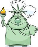 Sleeping Cartoon Statue of Liberty Stock Photography