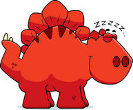 Sleeping Cartoon Stegosaurus Royalty Free Stock Images