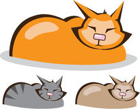 Sleeping Cat colors vector Stock Images