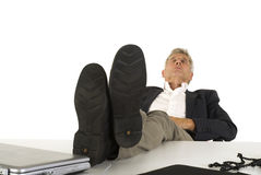 Sleeping ceo. Sleeping senior ceo at the office Royalty Free Stock Photos