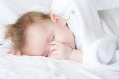 The sleeping child Stock Images