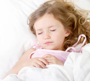 Sleeping child Stock Images