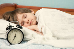 The sleeping child Royalty Free Stock Photo