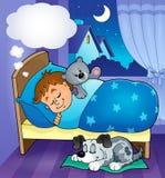 Sleeping child theme image 7. Eps10 vector illustration Stock Image