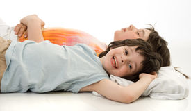 The sleeping children Stock Photography