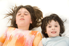 The sleeping children Stock Photography