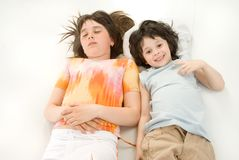 The sleeping children Royalty Free Stock Photography