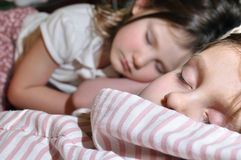 Sleeping children Royalty Free Stock Photography