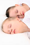 Sleeping children Stock Photos
