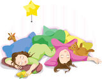 Sleeping children - twins. Stock Photo