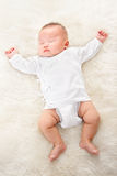 Sleeping Chinese baby boy Royalty Free Stock Photos