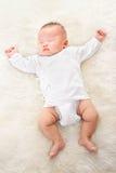 Sleeping Chinese baby boy Royalty Free Stock Photos