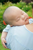 Sleeping Chinese baby Royalty Free Stock Photography