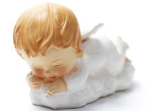 Sleeping christmas angel with soft focus Royalty Free Stock Image