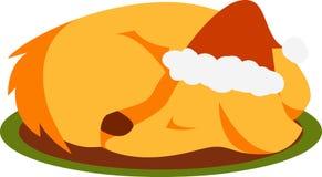 Sleeping Christmas Dog Royalty Free Stock Photo