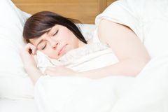 Sleeping comfortably Stock Photos