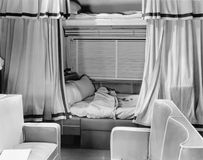 Sleeping compartment on train Stock Image