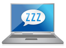 Sleeping computer graphic Stock Photo