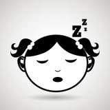 Sleeping concept design. Illustration eps10 graphic Stock Photo