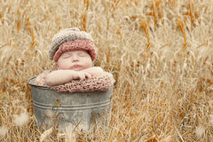 Sleeping country baby stock photos
