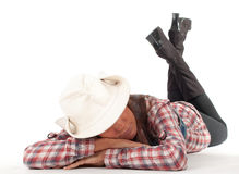 Sleeping country girl Stock Photo