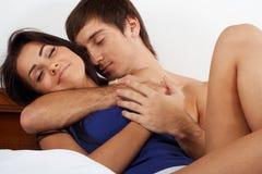 Sleeping couple Stock Photo
