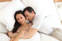 Sleeping couple Stock Image
