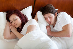 Sleeping couple Stock Photography