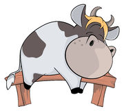 Sleeping cow. Cartoon Royalty Free Stock Image