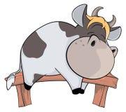 Sleeping cow. Cartoon Royalty Free Stock Image