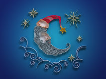 Sleeping crescent decoration quilling Stock Photography