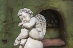 Sleeping cupid background Royalty Free Stock Image