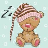 Sleeping cute Bear Royalty Free Stock Photo