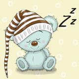 Sleeping cute Bear Stock Photos