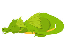 Sleeping cute dragon Stock Photo