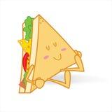 Sleeping cute sandwich Stock Image