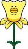 Sleeping Daffodil. A cartoon illustration of a daffodil sleeping Royalty Free Stock Photo
