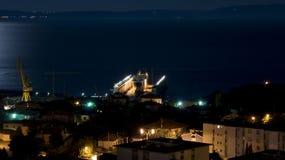 Sleeping dock. Dock of Viktor Lenac shipyard in Rijeka, Croatia Stock Photography