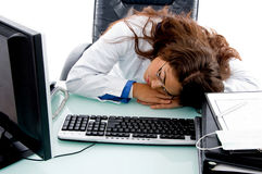 Sleeping doctor in clinic Royalty Free Stock Photos