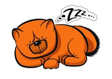 Sleeping dog chow-chow vector illustration