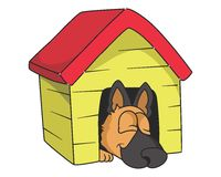 Sleeping dog  illustration Royalty Free Stock Photo