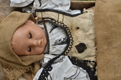 Sleeping doll stock photos
