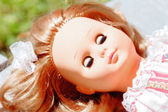 Sleeping doll with red hair Stock Photo