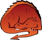 Sleeping dragon Stock Image