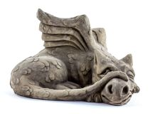 Sleeping dragon garden ornament Stock Image
