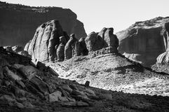 Sleeping Dragon in Monumet Valley BW Stock Photo