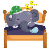 Sleeping elephant Royalty Free Stock Image