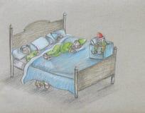 Sleeping Elves Royalty Free Stock Photo